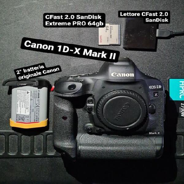 Canon 1D-X Mark II + accessori