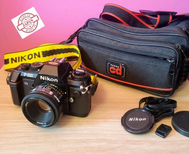 Fotocamera Reflex Nikon F-301 + Obiettivo 50mm serie E F1.8