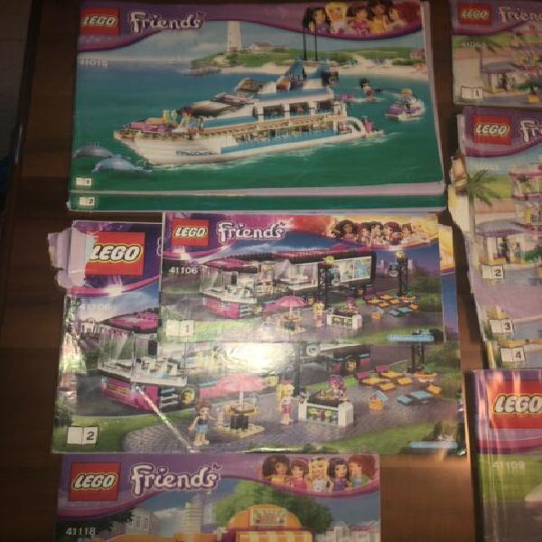Lotto set Lego friends city brick headz