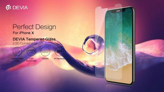 Pellicola protezione in vetro temperato 0,26mm per iPhone X