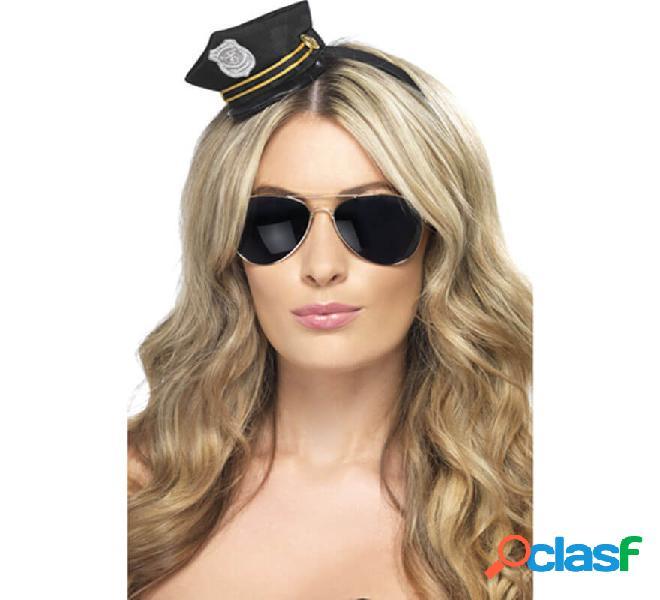 Mini cappello della polizia con distintivo