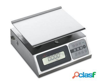 Bilancia elettronica con portata 20 kg, precisione 5 g - l 248 mm x p 253 mm x h 132 mm