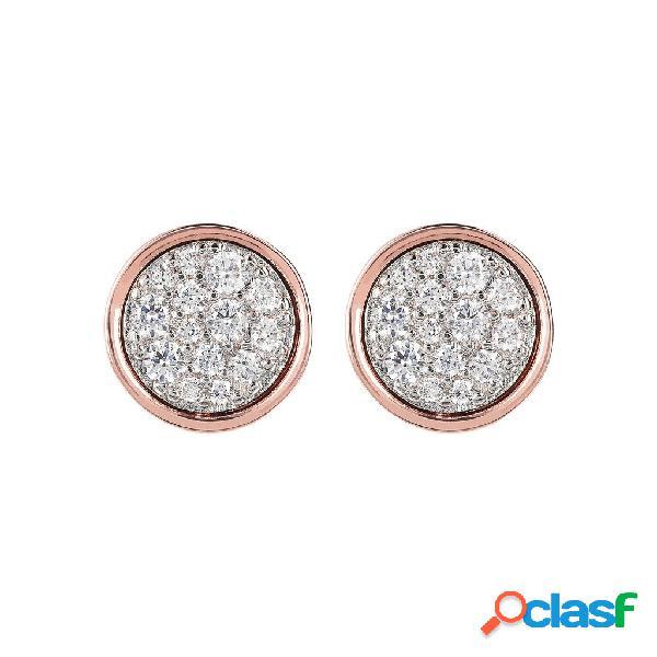 Punto luce minimal | rose gold / 1.30cm / cubic zirconia