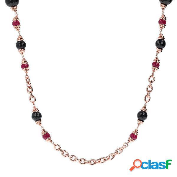 Collana meta serena   rose gold / 91.40cm / agata rossa