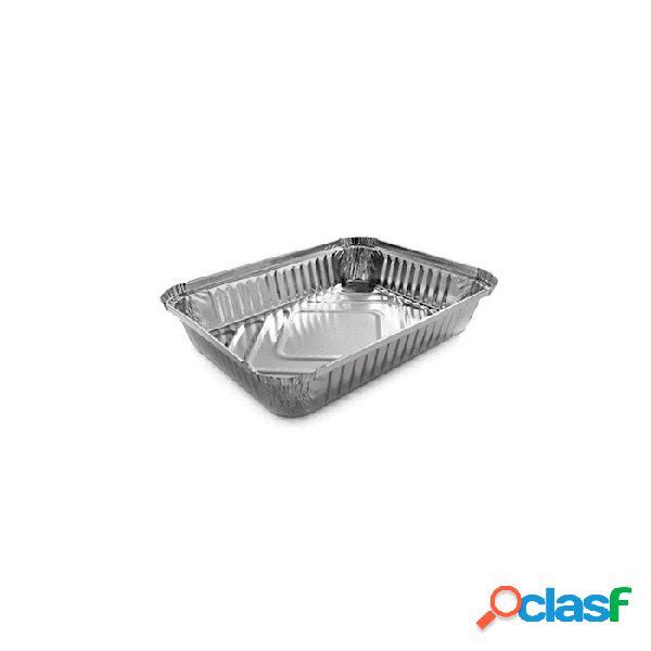 Vaschetta rettangolare monouso per alimenti in alluminio lt 1,12
