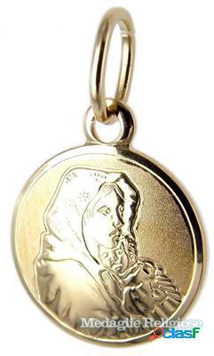 Medaglia madonna con bambino in oro giallo