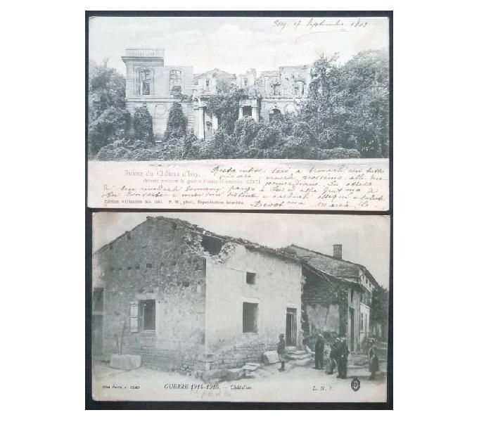 France francia_ile de france 2 cartoline fp id#01 san donà di piave - collezionismo in vendita