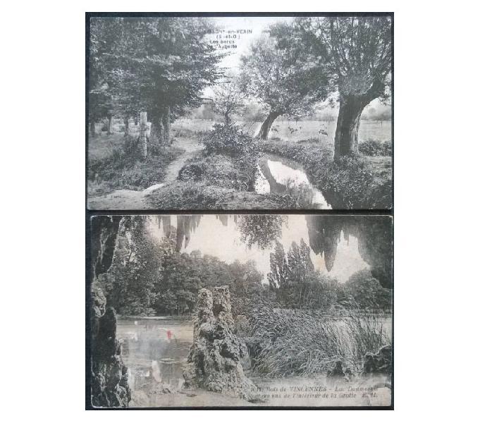 France francia_ile de france 2 cartoline fp id#04 san donà di piave - collezionismo in vendita
