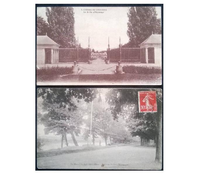 France francia_ile de france 2 cartoline fp id#05 san donà di piave - collezionismo in vendita