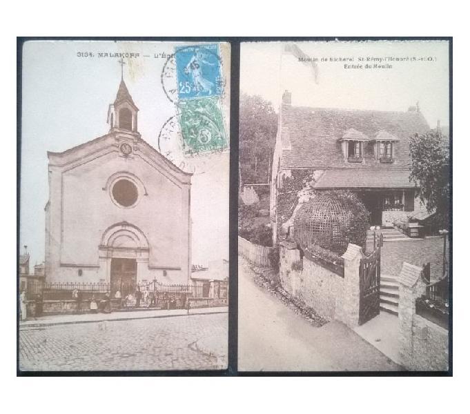 France francia_ile de france 2 cartoline bn fp id#02 san donà di piave - collezionismo in vendita