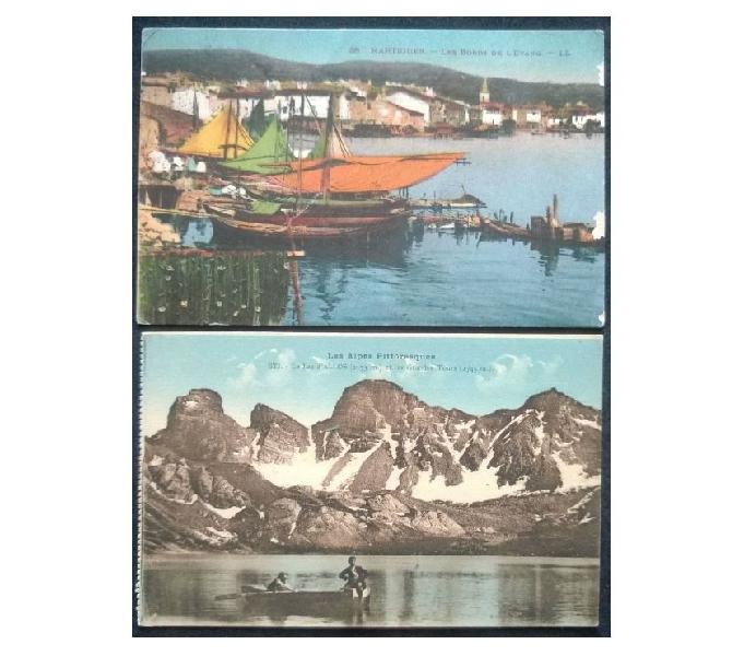 France francia_provence 2 cartoline col. fp pv#03 san donà di piave - collezionismo in vendita