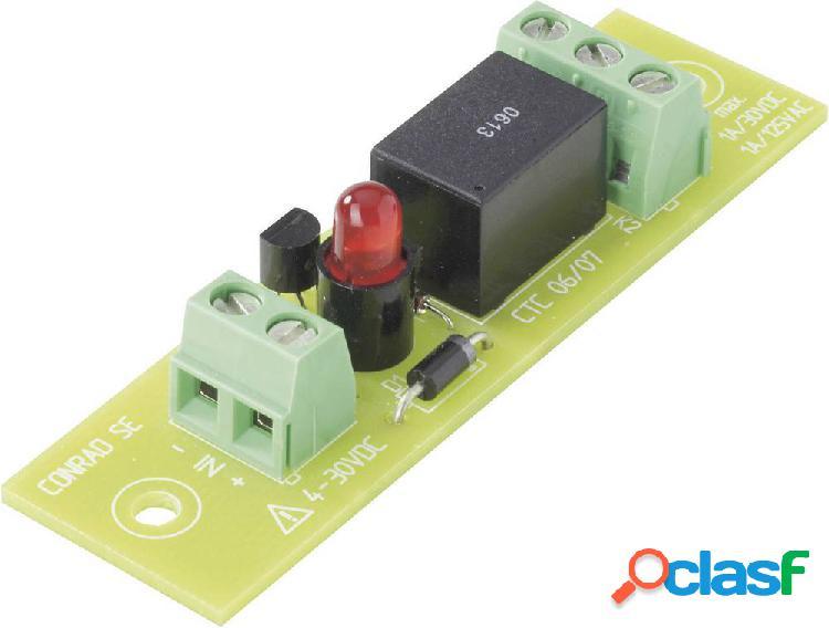 Scheda relè equipaggiata, 1 pz. conrad components rel-pcb4 1 1 contatto di commutazione 5 v/dc