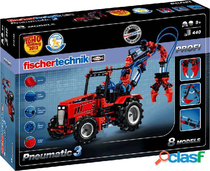 Fischertechnik 516185 profi pneumatic 3 meccanica, elettronica kit esperimenti da 9 anni