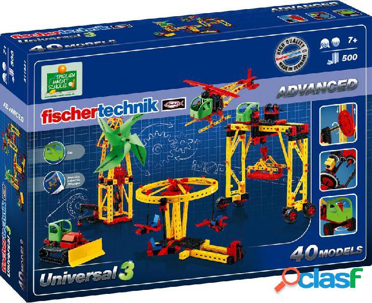 Fischertechnik 511931 universal 3 elettronica, meccanica kit esperimenti da 7 anni