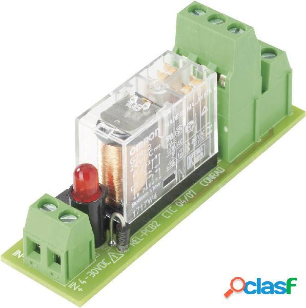 Scheda relè equipaggiata, 1 pz. conrad components rel-pcb2 1 2 contatti di commutazione 12 v/dc