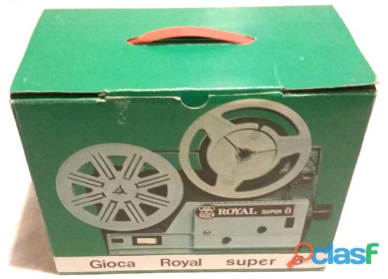 Proiettore Gioca Royal Super8 nuovo con scatola, libretto, fermagli in polistirolo e 2 bobine origin