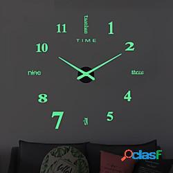 Orologio da parete orologi design moderno orologio digitale grande grande 3d fai da te decorazioni per la casa luminoso specchio specchio luminova lightinthebox