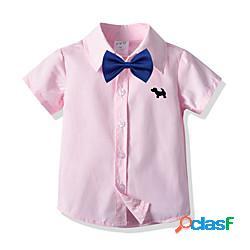 Bambino bambino (1-4 anni) da ragazzo maglietta camicia manica corta a quadri bambini estate top essenziale moda città rosa lightinthebox