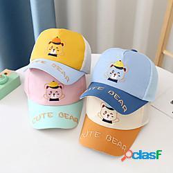 Bambini neonate '1pcs attivo tagliato compleanno casual abbigliamento quotidiano lettera dei cartoni animati ricamati cappelli in poliestere alla modaamp; berretti arancio royal blue beige s