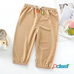 Bambino da ragazzo pantaloni tinta unita blu blu turchese marrone attivo 3-8 anni miniinthebox