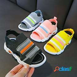 Unisex sandali comoda scarpe da principessa scarpe da scuola tessuto elastico scarpe con tacchi ragazzi (7 anni) sportivo quotidiano footing nero giallo rosa primavera estate miniinthebox