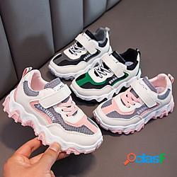 Unisex scarpe da ginnastica comoda scarpe da scuola retato pu scarpe con tacchi ragazzi (7 anni) quotidiano interni corsa footing nero rosa verde primavera estate miniinthebox