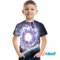 Bambino da ragazzo t-shirt manica corta pop art bambini top attivo arcobaleno 3-12 anni miniinthebox