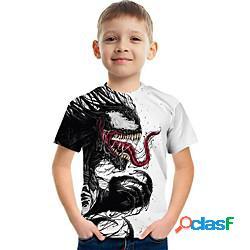 Bambino da ragazzo t-shirt manica corta pop art bambini estate top attivo arcobaleno 3-12 anni miniinthebox