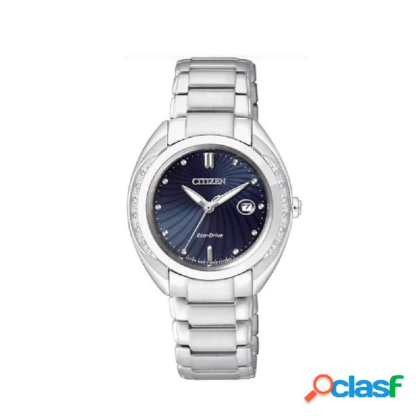 Orologio citizen eco drive da donna in acciaio e diamanti - l - ew2250-59l