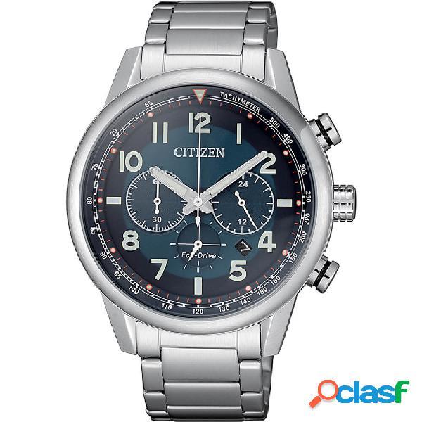 Orologio citizen eco drive cronografo in acciaio - millitary - ca4420-81l