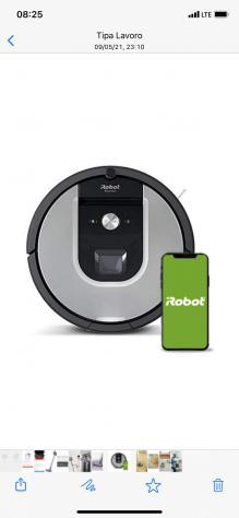 Irobot robot aspirapolvere wifi roomba 971 colore argento /