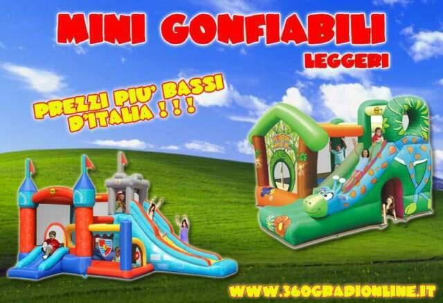 Giochi gonfiabili leggeri.... ai prezzi più bassi d'italia