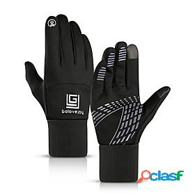 Bike gloves / cycling gloves ski gloves touch gloves men's women's snowsports full finger gloves winter warm canvas ski / snowboard