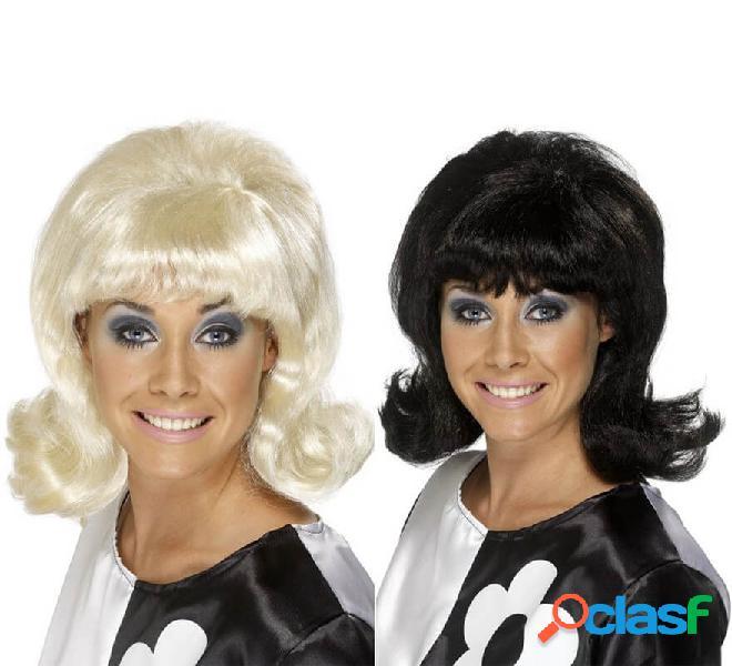 Parrucca mod degli anni '60 cresciuta per le donne in vari colori