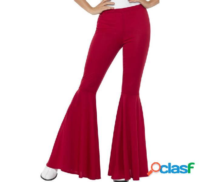 Pantaloni a campana rossi per le donne