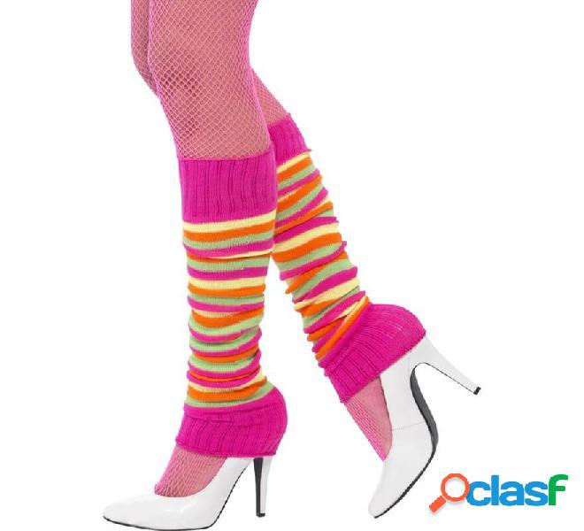 Riscaldatori a strisce rosa per le donne