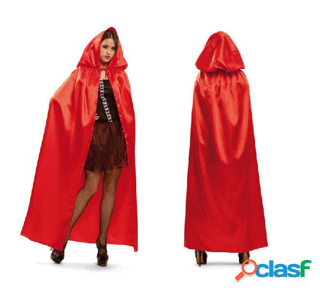 Mantello rosso con cappuccio per le donne