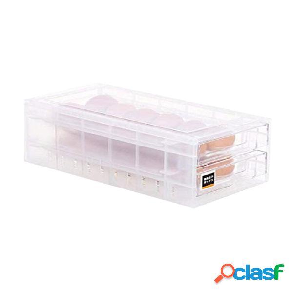 Disegna la scatola di stoccaggio del congelatore del frigorifero dello scaffale di stoccaggio dell'uovo della cucina di