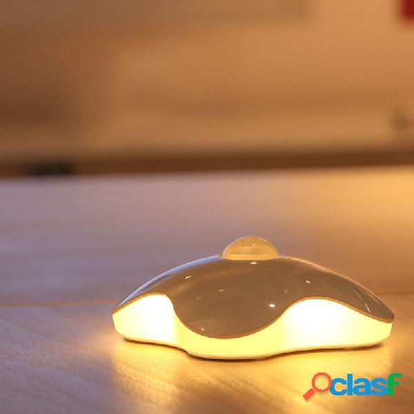 Luce di notte del sensore motion-activated di loskii dx-s11 0.7w led quattro portatile usb ricaricabile