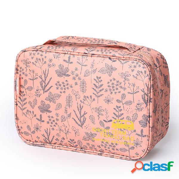 Honana hn-cb10 cosmetico da donna impermeabile borsa trucco organizzatore custodia da appendere per articoli da toeletta