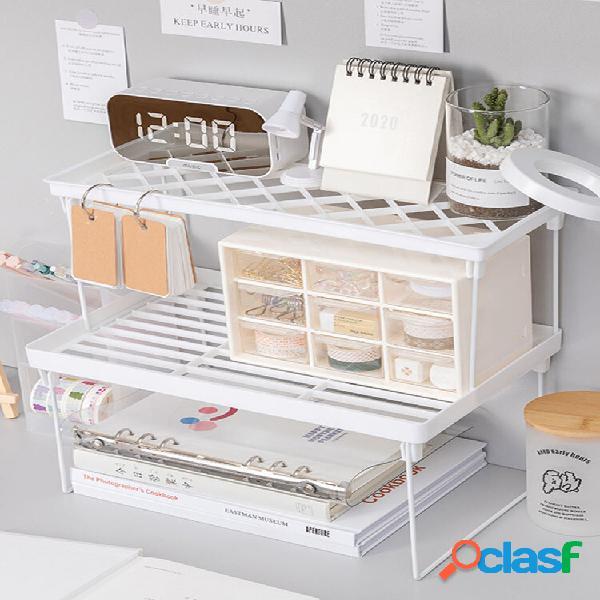 1pc home armadio organizzatore scaffale da scrivania per scaffale da cucina armadio salvaspazio scaffali decorativi supp