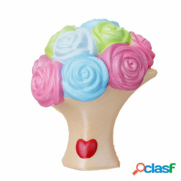Decorazione dell'accumulazione del regalo del giocattolo di aumento lento di squishy del fiore della rosa con la scatola