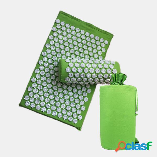 3pcs / set flower massaggio pad cuscino per digitopressione alleviare lo stress agopuntura per il corpo posteriore yoga