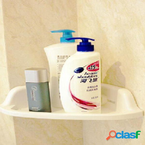 Mensola angolare per bagno in pvc bianco forte aspirazione organizzatore supporto per rack di stoccaggio