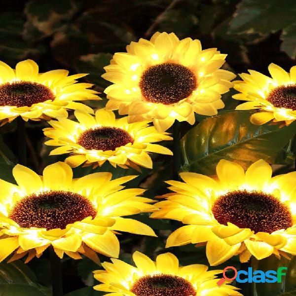 Solar power led sunflower light energy saving prato lamps outdoor garden path decorazione da giardino lampada da giardin