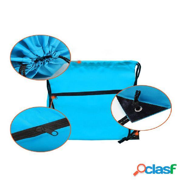 Scomparto con coulisse portaoggetti con cerniera borsa con jack per cuffie zaino multifunzione per sport all'aria aperta