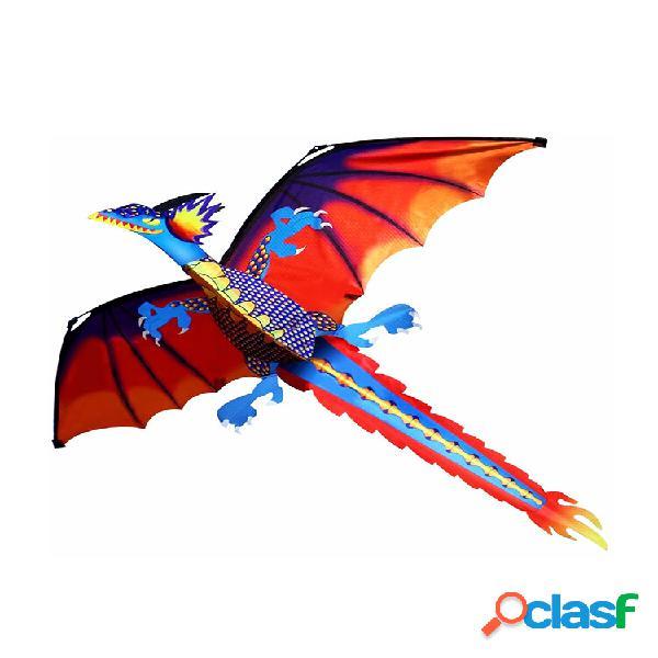 3d drago aquilone 140 * 120 cm linea singola con coda giocattolo per sport all'aria aperta