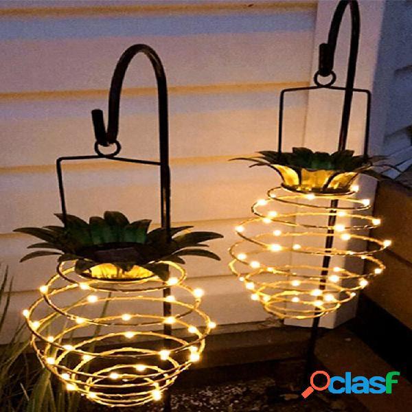 Led solare lanterna decorativa da giardino con luce ananas da esterno impermeabile solare luce