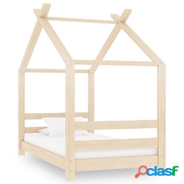 Vidaxl giroletto per bambini in legno massello di pino 70x140 cm