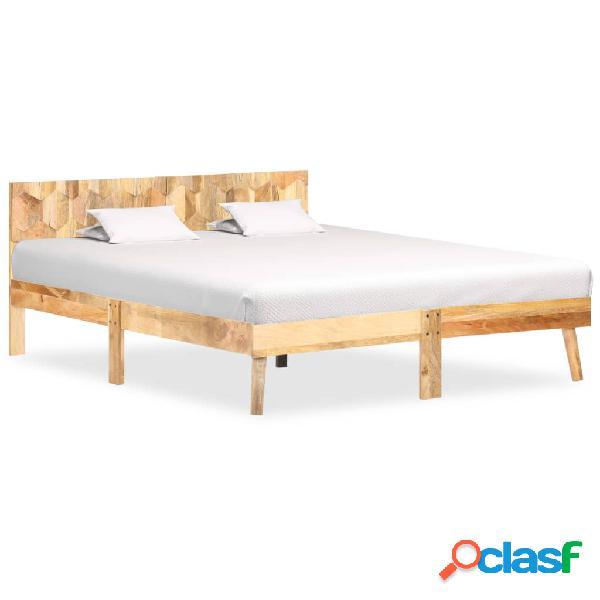 Vidaxl giroletto in legno massello di mango 140x200 cm
